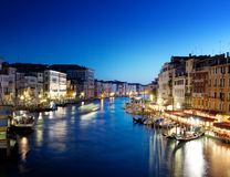 Grand Canal, Venice, Italy at sunset Royalty Free Stock Image