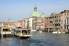 The Grand Canal in Venice, Italy stock photography