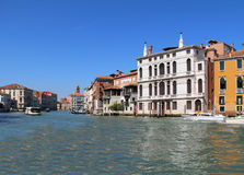 Grand Canal in Venice, Italy. View of the Grand Canal in Venice, Italy Royalty Free Stock Images