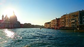 Grand Canal in Venice, Italy view from the wate stock photo