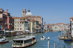 Grand Canal in Venice Italy Stock Image