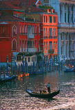 On the Grand Canal in Venice stock images