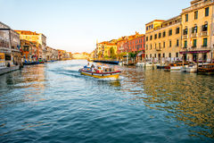 Grand canal in Venice in the morning Stock Photos