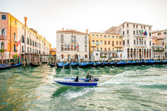 Grand canal in Venice in the morning Royalty Free Stock Photos