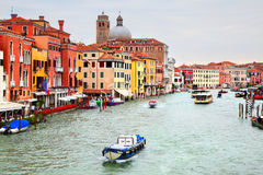 Grand Canal in Venice. Near train station, Italy Stock Image