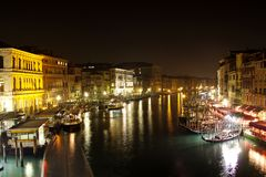 Grand Canal in Venice. NIght Royalty Free Stock Photos