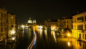 Grand Canal Venice at Night Royalty Free Stock Photography