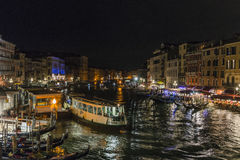 Grand Canal in Venice  at night Stock Images