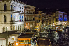 Grand Canal in Venice  at night Royalty Free Stock Image