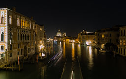 Grand Canal in Venice at night Royalty Free Stock Images