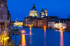 Grand Canal of Venice by night Stock Photos
