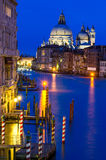 Grand Canal of Venice by night Stock Photography