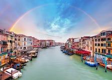 Grand Canal - Venice from Rialto bridge Royalty Free Stock Photo