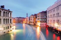 Grand Canal - Venice from Rialto bridge Stock Image