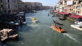 Grand Canal, Venice, from the Rialto Bridge stock video