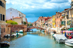 Grand Canal and Venice streets Stock Image