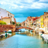 Grand Canal and Venice streets Stock Photos