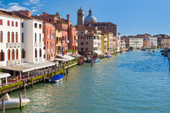 Grand Canal in Venice in a summer sunny day Royalty Free Stock Photo