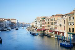 Grand Canal in Venice in a sunny morning in summer, Italy stock images