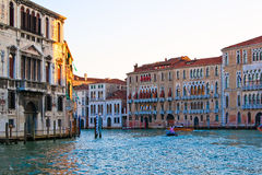 The Grand Canal of Venice at sunset Stock Photography