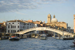 Grand Canal of Venice at sunset Royalty Free Stock Photography