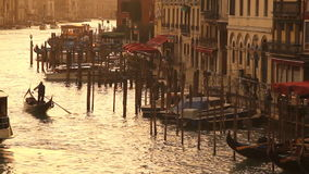 Grand Canal in Venice at sunset stock video footage