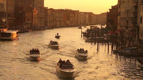 Grand Canal in Venice at sunset stock footage
