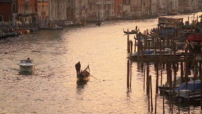Grand Canal in Venice at sunset stock video