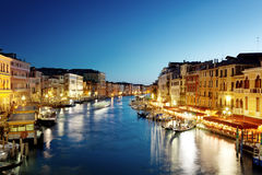 Grand Canal in Venice at sunset Royalty Free Stock Images