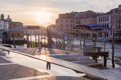 Grand Canal of Venice at Sunset Stock Photos