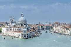 The Grand Canal, Venice. View looking up to the Grand Canal, Venice Royalty Free Stock Photography