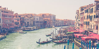 Grand Canal in Venice with vintage filtered Stock Image