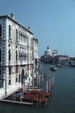 Grand Canal vertikal sikt, Venedig, Tom Wurl Arkivfoto