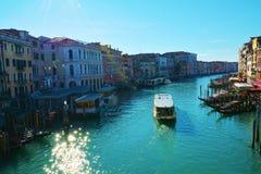 Grand Canal, view from Rialto bridge, Venice Stock Photos