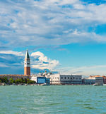 Grand canal view with San Marco Basilica. Royalty Free Stock Photo