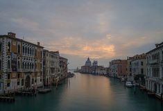 Grand Canal with a view towards the Basilica Santa Maria della S Stock Photography