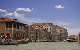 Grand canal view in Venice Royalty Free Stock Image