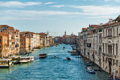 Grand Canal view, Venice, Italy Stock Photos