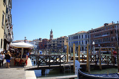 Grand Canal view Venice Italy Royalty Free Stock Photography
