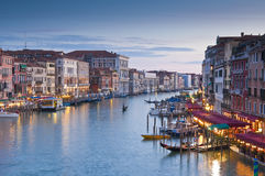 Grand Canal, Villas and Gondolas, Venice Royalty Free Stock Photography
