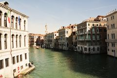 Grand Canal, vintage hues, Venice, Italy, Europe Stock Photography
