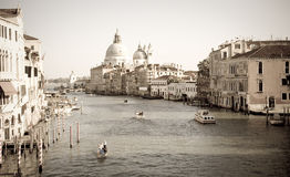 Grand Canal vintage, Venice Stock Photos