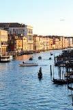 Grand Canal von Venedig am Abend Lizenzfreie Stockfotos