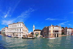 Grand Canal water glows Stock Images