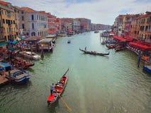 Grand Canal, wie von Rialto-Brücke gesehen Lizenzfreie Stockbilder