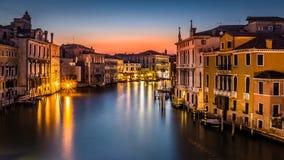 Grand Canal y oscuridad Foto de archivo libre de regalías