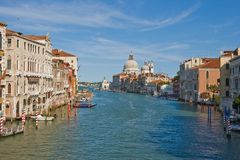 Grand Canale. Noon view of Grand Canale in Venice stock images