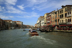 Grand Canale, Old Buildings, Venice, Venezia, Italy Stock Photos