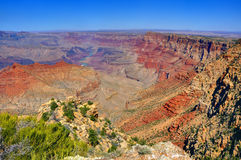 Grand Canyon. View from desert view point watch tower Royalty Free Stock Photo