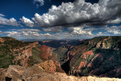Grand Canyon. Scenic view of cloudscape over northern rim of Grand Canyon viewed along Saddle Mountain, Arizona, U.S.A Royalty Free Stock Image